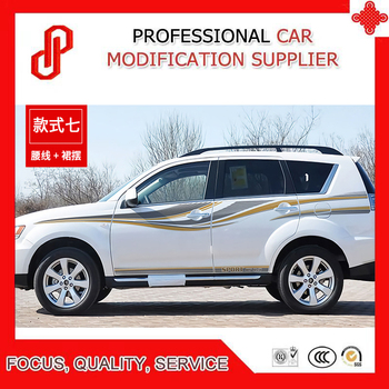 Car Sticker Waist Line Body Decoration Refitted Car Sticker For  Outlander EX