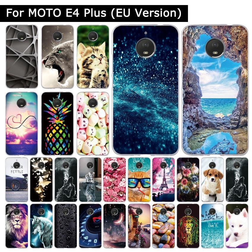 Soft TPU Case For Motorola MOTO E4 Plus EU Version Silicone Cover For MOTO E4plus XT1770 XT1773 Cute Patterned Phone Shells Capa