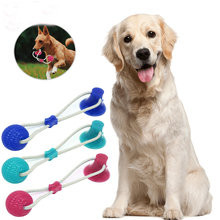 Interactive Pet Dog Suction Cup TPR Ball Toys Molar Bite Rubber Safe Chew Cleaning Teeth Toy For Cat
