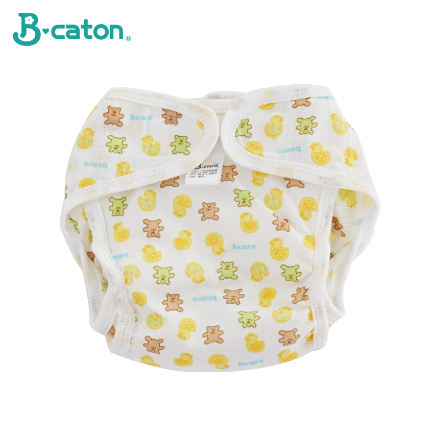 Baby Reusable Diaper Cotton Cloth Diapers Baby Pants  Waterproof Training Pants Thickening Built In Absorbent Cotton 0-3 Months