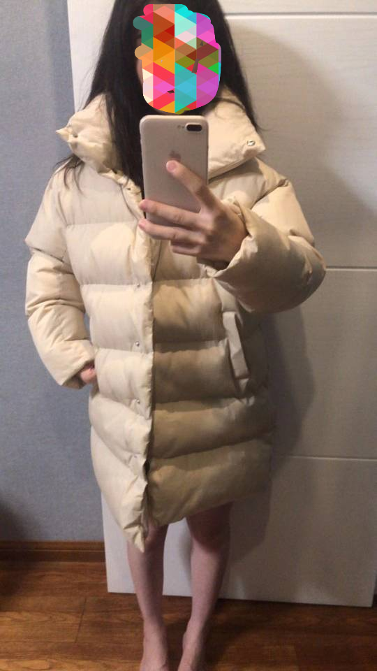 HXJJP Duck Down Jacket Women Winter 19 Outerwear Coats Female Long Casual Warm Down puffer jacket Parka branded 7