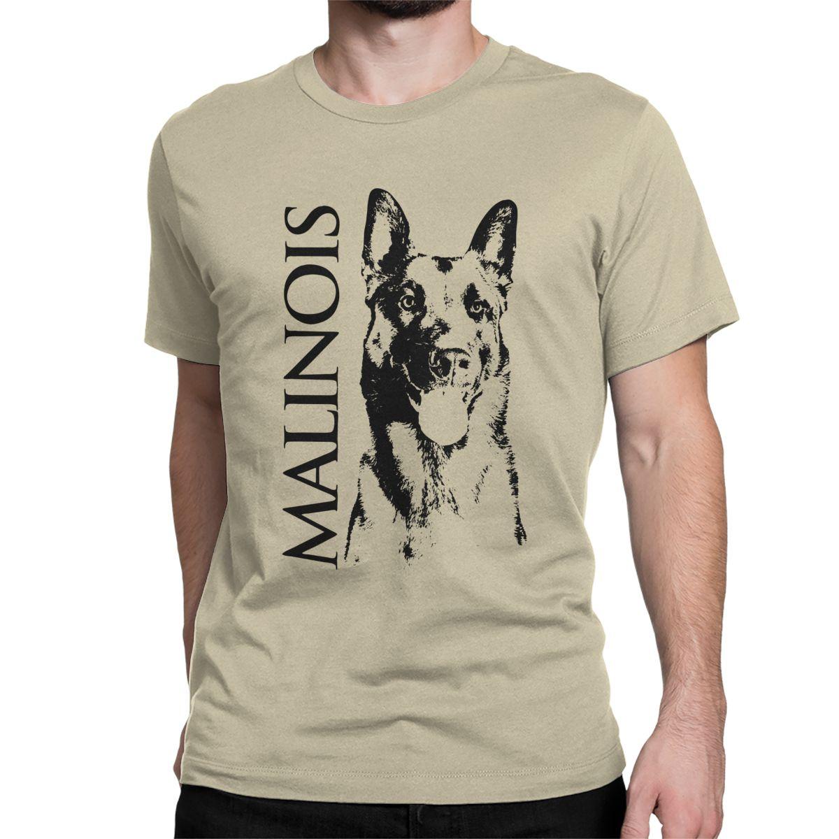 Malinois Dog Belgian Shepherd Mechelaar T Shirt Men's 100% Cotton Novelty T-Shirt O Neck Tee Shirt Short Sleeve Clothing 5XL 6XL