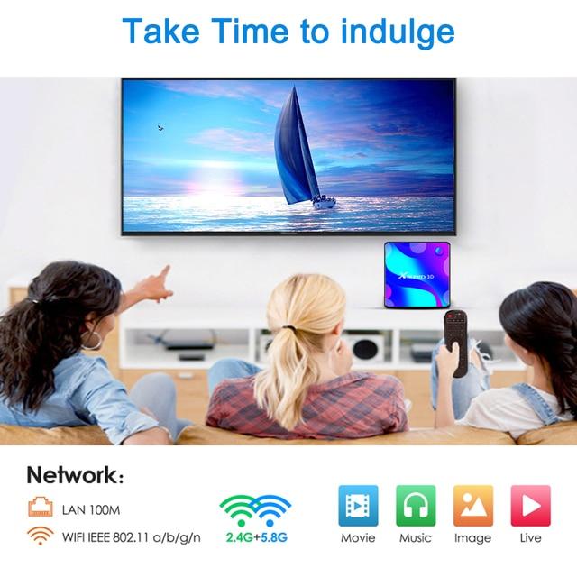 LEMFO X88 Pro 10 Smart TV Box Android 10.0 4GB 64GB 128GB Rockchip RK3318 Support 4K Youtube Google Play 4