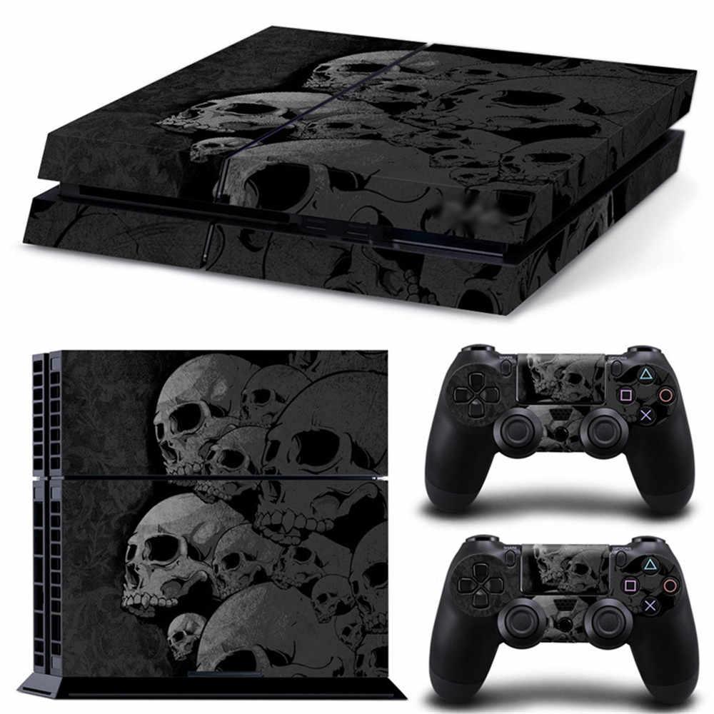 スカルデザイン PS4 ビニールリムーバブル防水ソニープレイステーション 4 プロコンソール & コントローラプロテクターカバー