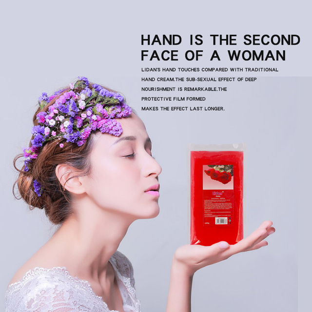 Lidan 450g Paraffin Wax Bath Hands Mask Moisturizing Hydrating Hand Mask Remove Dead Skin Hands Care Wax Mask 4