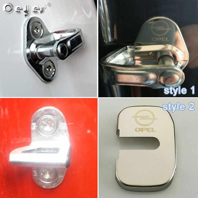 Ceyes coche estilo pegatinas Auto puerta cubre funda para Opel Astra Zafira Corsa Insignia Mokka Meriva Auto emblemas Accesorios
