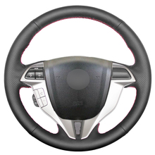 Steering-Wheel-Cover Honda Accord Artificial-Leather Coupe Car Black for Hand-Sew Crosstour
