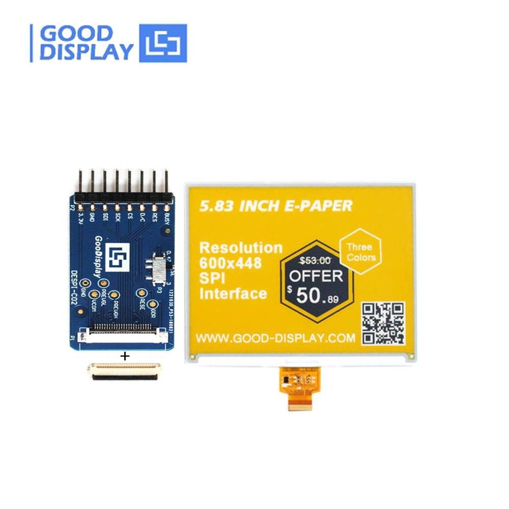 5.83 Inch Color E-ink E-paper Display Panel And A Connection Board