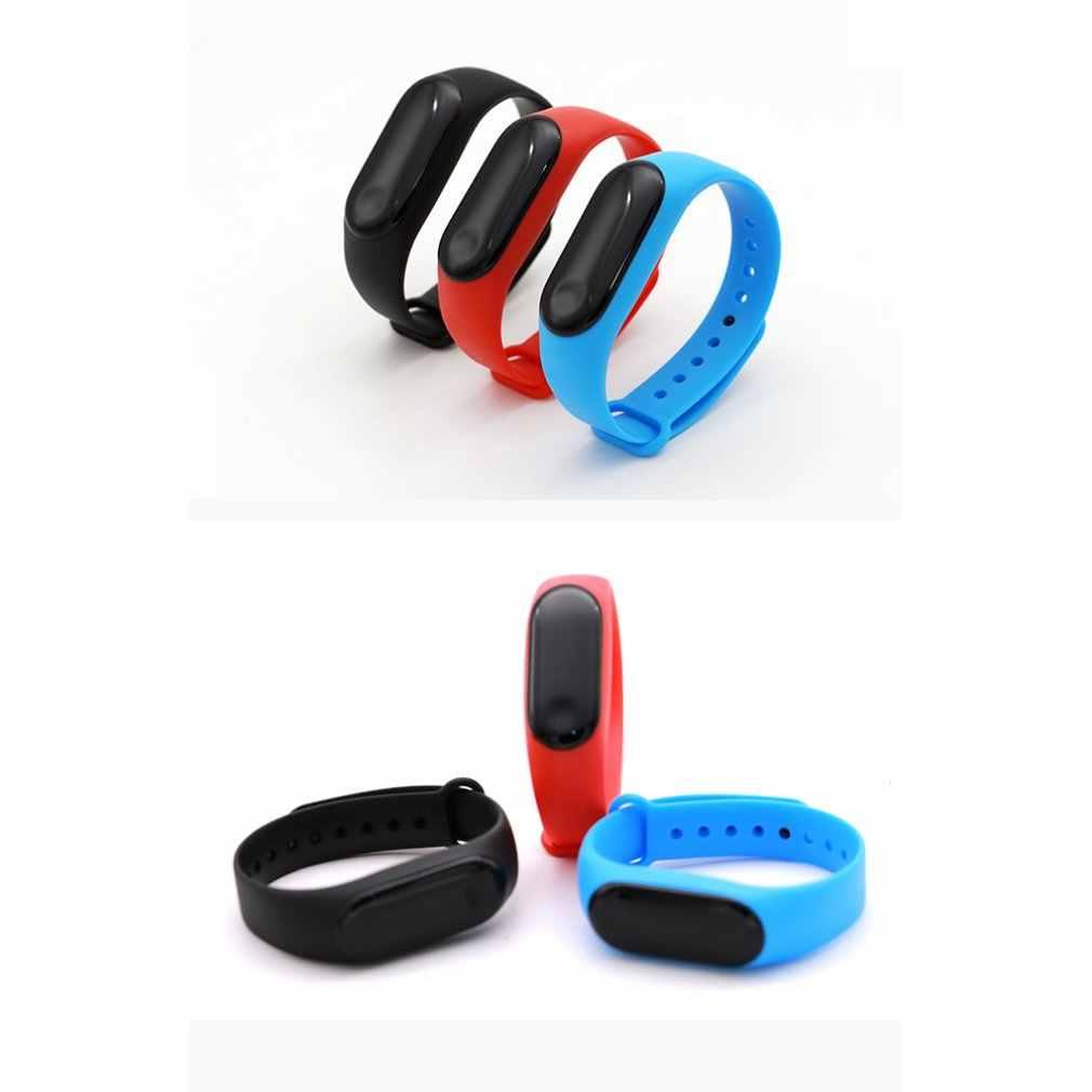 עמיד למים צמיד קצב לב בריאות צג גשש שעון עבור M3 להקת גדול מגע מסך OLED הודעה לב שיעור זמן Smartband