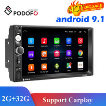 Podofo Multimedia Player Android 2 Din Radio Car DVD GPS WIFI For Nissan Toyota Volkswagen Mazda Kia VW Peugeot LADA Hyundai