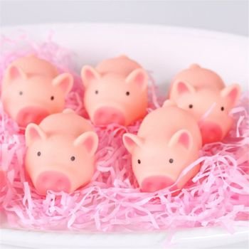 Kawaii Pink Pig Animal Squeeze Toy Baby Bath Toy Bedroom Doorbell Practical Jokes Kids Gift F3ME