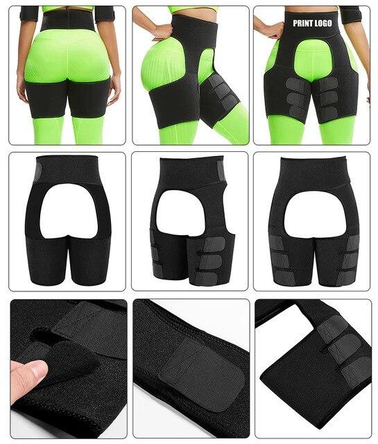 Women Hot Sweat Waist,Sport Girdle Belt Booty Hip Enhancer Lift Butt Lifter Shaper Waist Trainer Thigh Trimmers For Women 5
