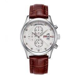 BINLUN Daytona zegarki męskie Pilot zegarek kwarcowy zegar luksusowe 4 Dial tydzień/data/godziny drugi zegar wielofunkcyjny chronograf