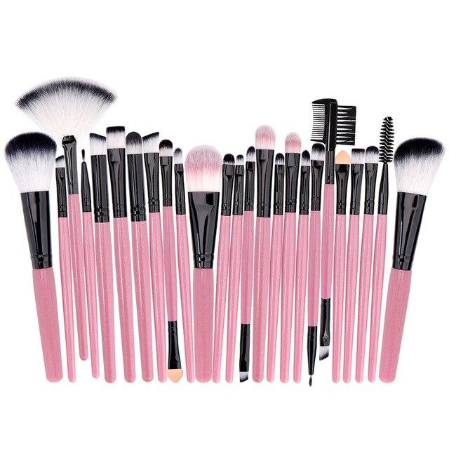 Professional Makeup Brushes Set Powder Foundation Blusher and Eyeshadow Tools For Women Cosmetic 25Pcs Brushes Set 5