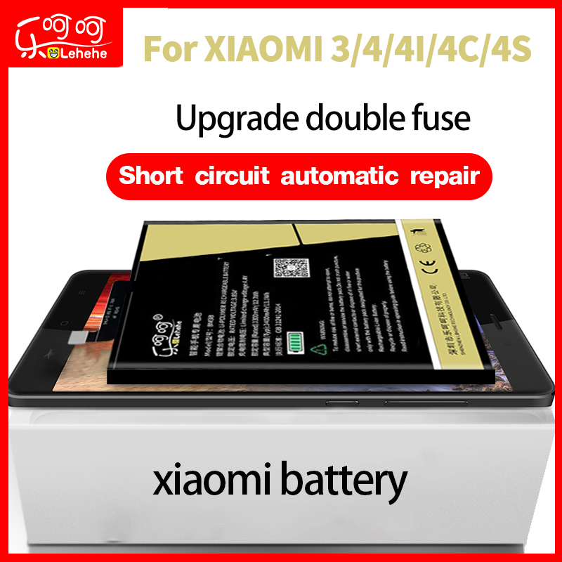 LEHEHE BM31 BM32 BM33 BM35 BM38 <font><b>battery</b></font> for xiaomi3 <font><b>mi</b></font> 4 4C <font><b>4I</b></font> 4S Zero Cycle with Free dismantling tools image