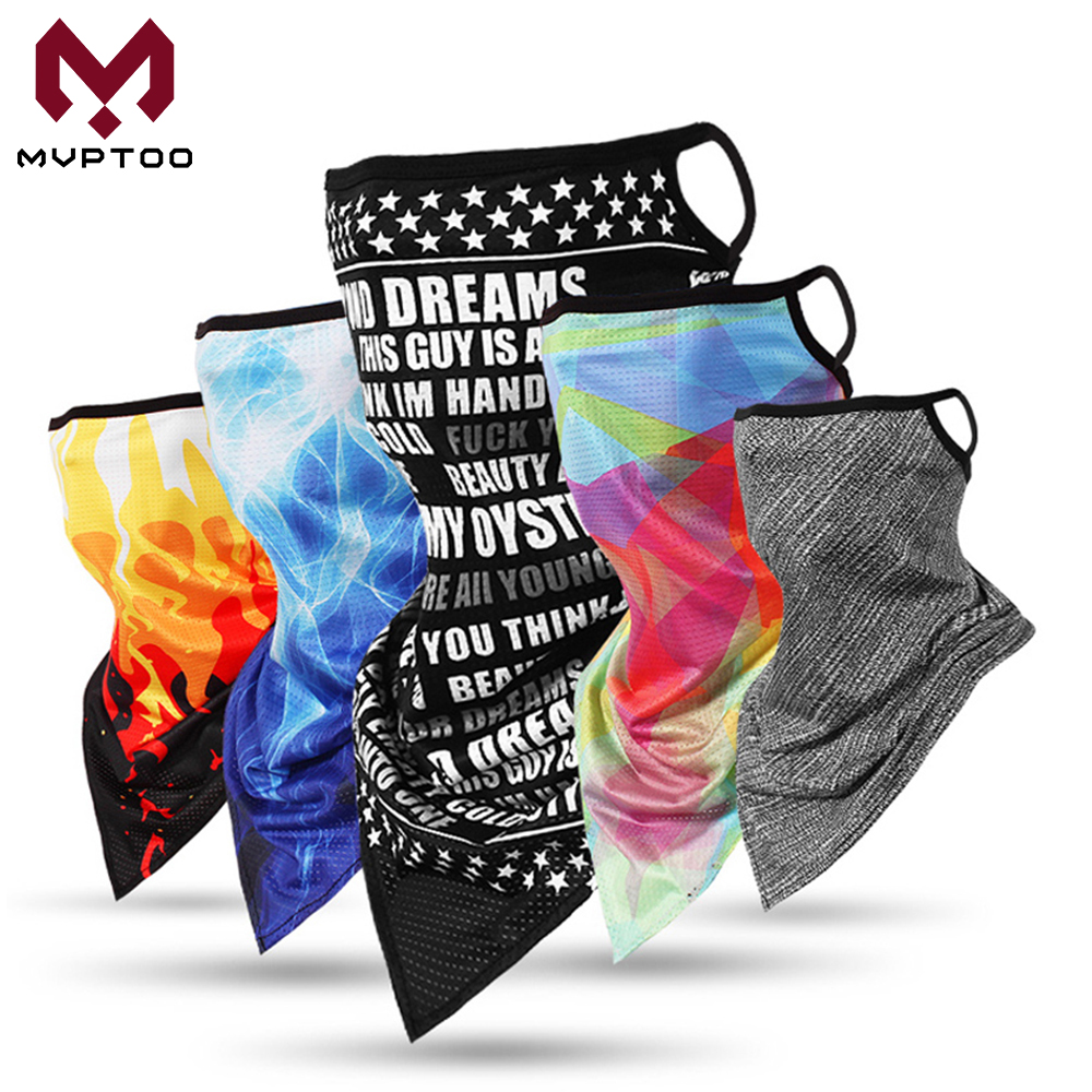 Triangle Balaclava Motorcycle Face Neck Gaiter Ring Tube Scarf Ear Hanging Moto Motorbike Bandana Head Cover Headband Men Women