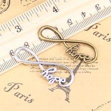 12pcs Charms infinity symbol hope 39x15mm Antique Pendants,Vintage Tibetan Silver Jewelry,DIY for bracelet necklace