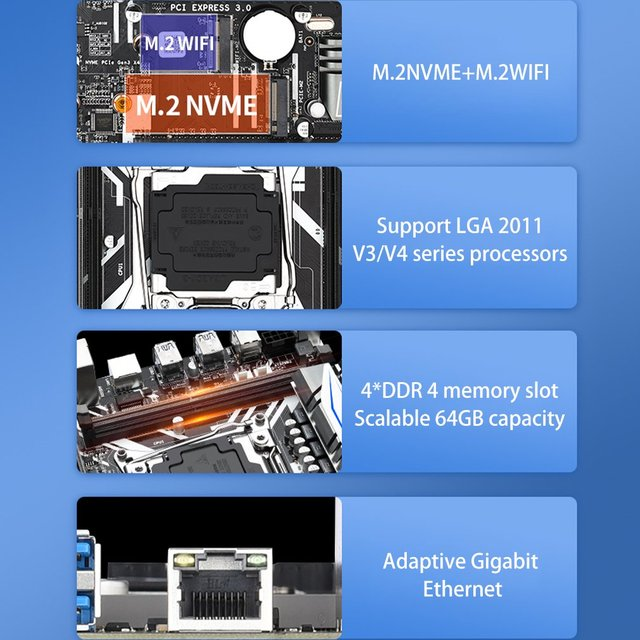 X99M-G2 Motherboard Set With E5 2620V3 Processor Support PCIE 16X USB 3.0 SATA And DDR4 Memory 2