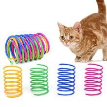 8 шт кошка красочные пружинная игрушка творческий Пластик Гибкая