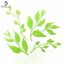 Metal Cutting Die Cut 5PC Floral Leaves Leaves Scrapbooking Paper Craft Handmade Card Punch Art Cutter Alinacutle 20102301