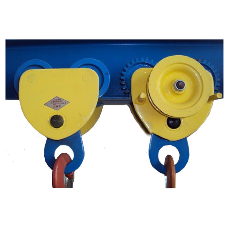 Manual Single Beam Geared Trolley I-beam Monorail Trolley Lifting Chain Hoist Chain Block Crane Lifting Sling