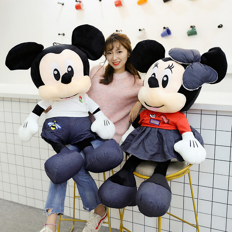 New Mickey&Minnie Mouse Plush Doll Toy Cute Dressing Mickey Minnie Stuffed Doll Cushion Pillow Appease Baby Toys For Kids Gift