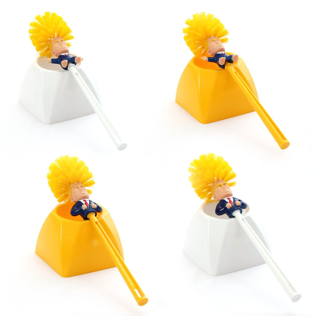 Creative Trump Toilet Brush Toilet Brush Plastic Creative Toilet Brush Toilet Brush Set