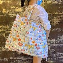 Handbag Environmental-Protection-Bag Folding Reusable High-Quality Lady