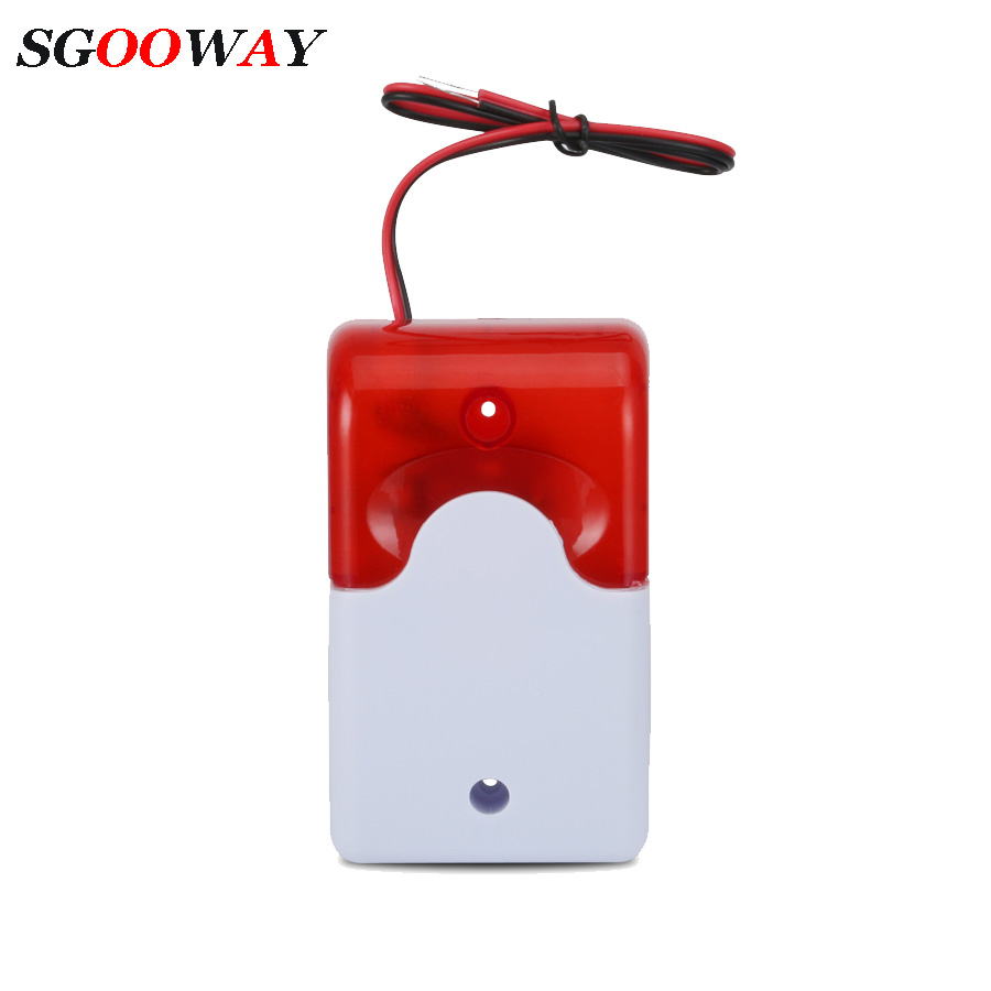 Sgooway Flash LED Strobe Light Siren 12V Work For GSM PSTN Home Security Voice Burglar Alarm System