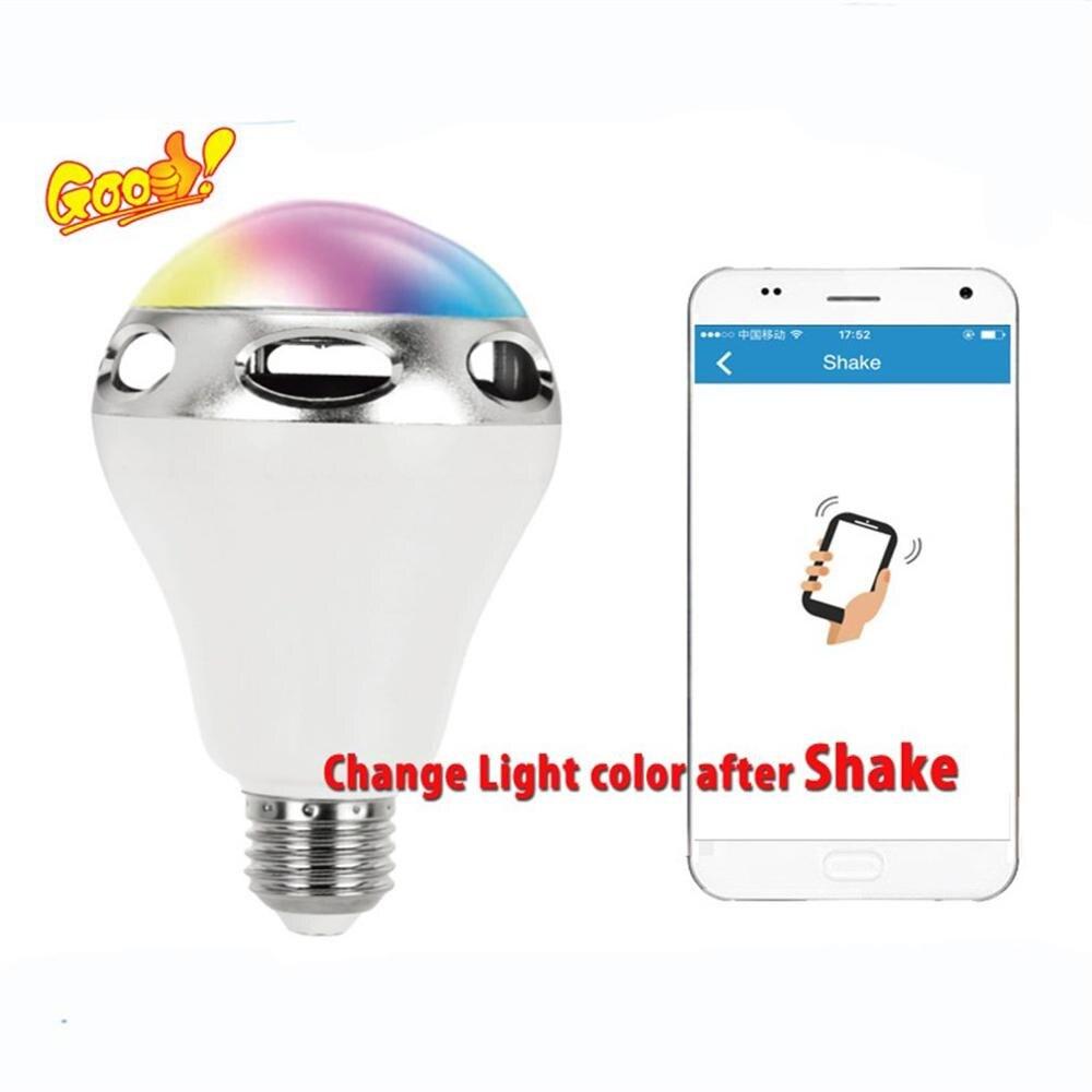 LED Speaker Light E27 RGB Bulb Color Changing/Music Player Lighting Lamp With Built-in Audio Mini Speaker