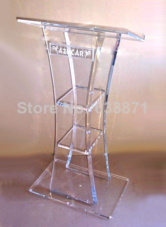 Free Shipping High-end Atmosphere Floor Standing Transparent Acrylic Lectern Podium/acrylic Podium Pulpit Lectern