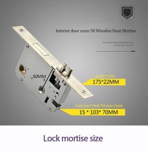 Image 5 - LACHCO 2020 биометрический дверной замок, код, карта, сенсорный экран, цифровой пароль, ключ для электронного замка для дома lk18A3F