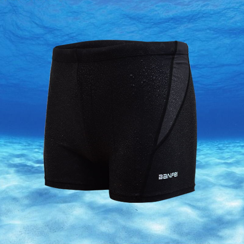2019 New Style MEN'S Swimming Trunks Adult Quick-Dry Solid Color Swimming Trunks Men Boxer Fashion Beach Shorts