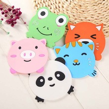 5PCS  Creative cute cartoon Tea Cup Pad Mat Table Coasters Felt Place mate Cushion Mug Tableware