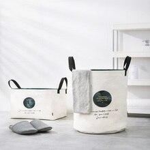 Cesta de lavanderia dobrável roupas sujas organizador caixa de armazenamento de grande capacidade lavanderia moda estilo yoro