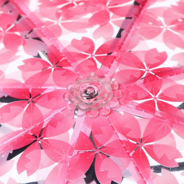 Transparent Umbrellas For Protect Against Wind And Rain Clear Sakura 3 Fold Umbrella Clear Field Of Vision Household Rain Gear 4