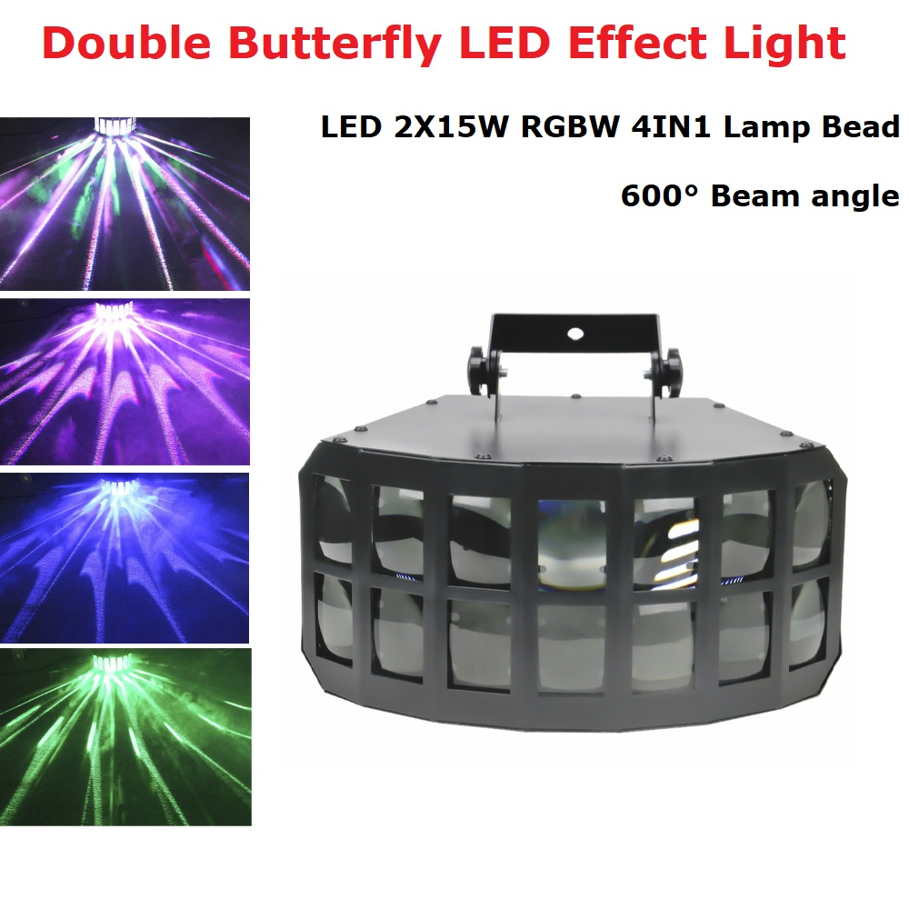 LED 2x15W RGBW 4IN1 Double Layer Downlight Projection Butterfly Effect Light KTV DJ Disco Party Lights LED Double Butterfly