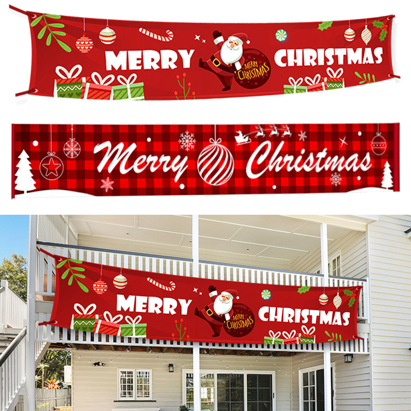 3M Merry Christmas Banner Oxford Cloth Decoration Hanging Banners for Christmas Decoration Navidad New Year Home Decor Supplies