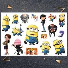 Hasbro Yellow villain Children Cartoon Temporary Tattoo Sticker For Boys Toys Waterproof Party Kids Gift