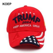 Novo donald trump 2024 boné eua bonés de beisebol manter a américa grande chapéu presidente snapback 3d bordado atacado drop shipping chapéus