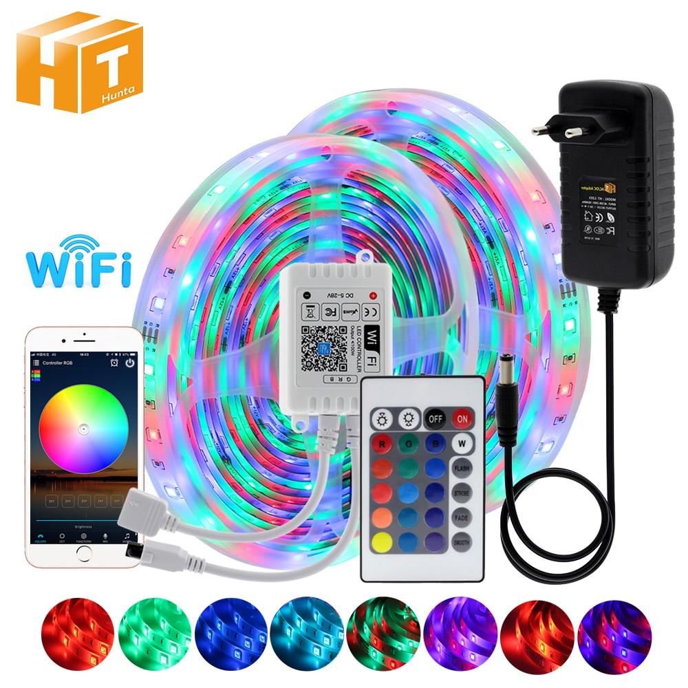 LED Strip Light RGB 5050 5M 10M 15M 20M RGB Color Changeable Flexible LED Light Tape IR Remote Control WIFI RGB LED Strip.