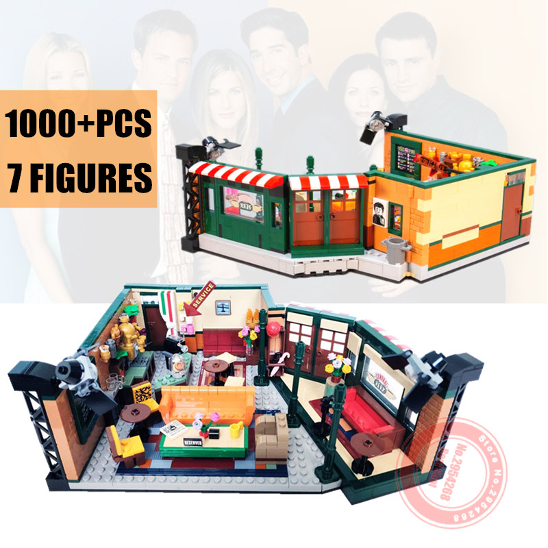 New Classic TV American Drama Friends Central Perk Cafe Fit Legoings Friends Model Building Block Bricks 21319 Toy Gift Kid