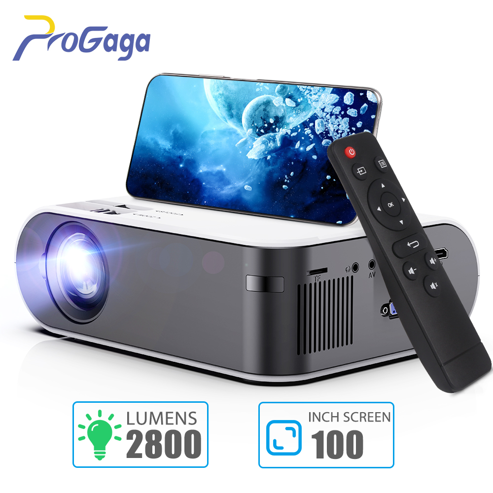 Mini Portable Projector for HD 1080P Video WiFi Projector Proyector 2800 Lumens Smart Phone Airplay Maircast Beamer Home Cinema