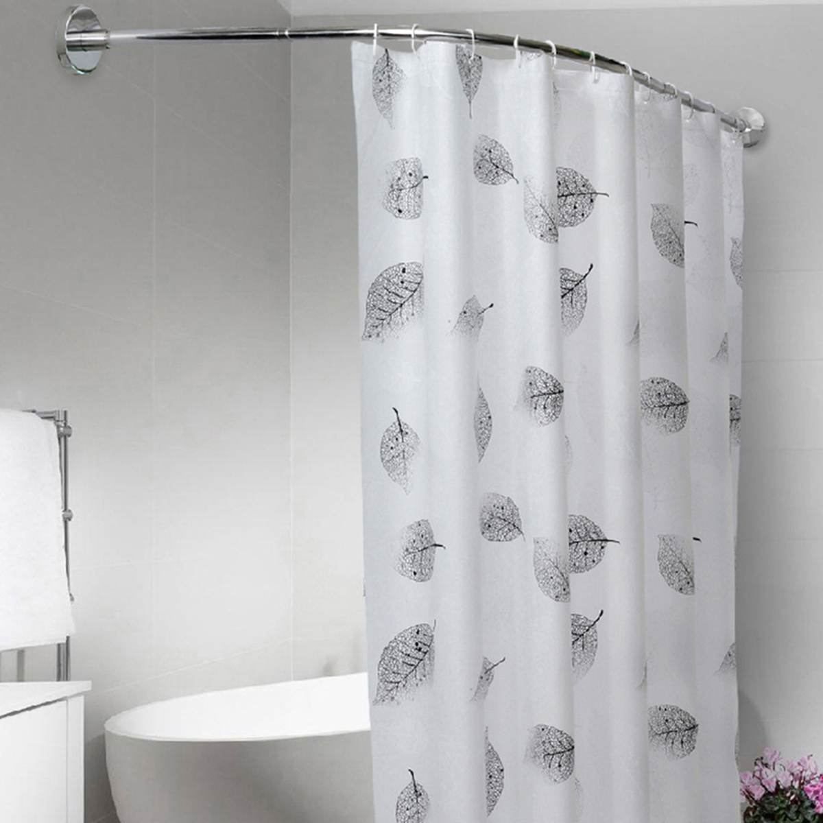Hot Offer 1989 Extendable Curved Shower Curtain Rod U