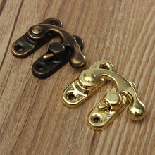 Metal Lock Hasps-Hook Jewelry-Box Hardware Decorative Screws Zakka-Box Wooden KAK Antique