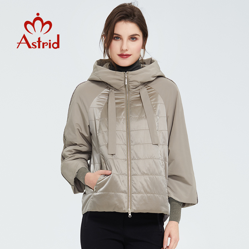 Astrid 2020 Spring Coat Women Outwear Trend Jacket Short Parkas Casual Fashion Female High Quality Warm Thin Cotton ZM-8601