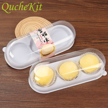 Cupcake Package Cake-Boxes Dessert Egg-Yolk-Puff-Container Rectangle Clear Plastic Candy-Moon