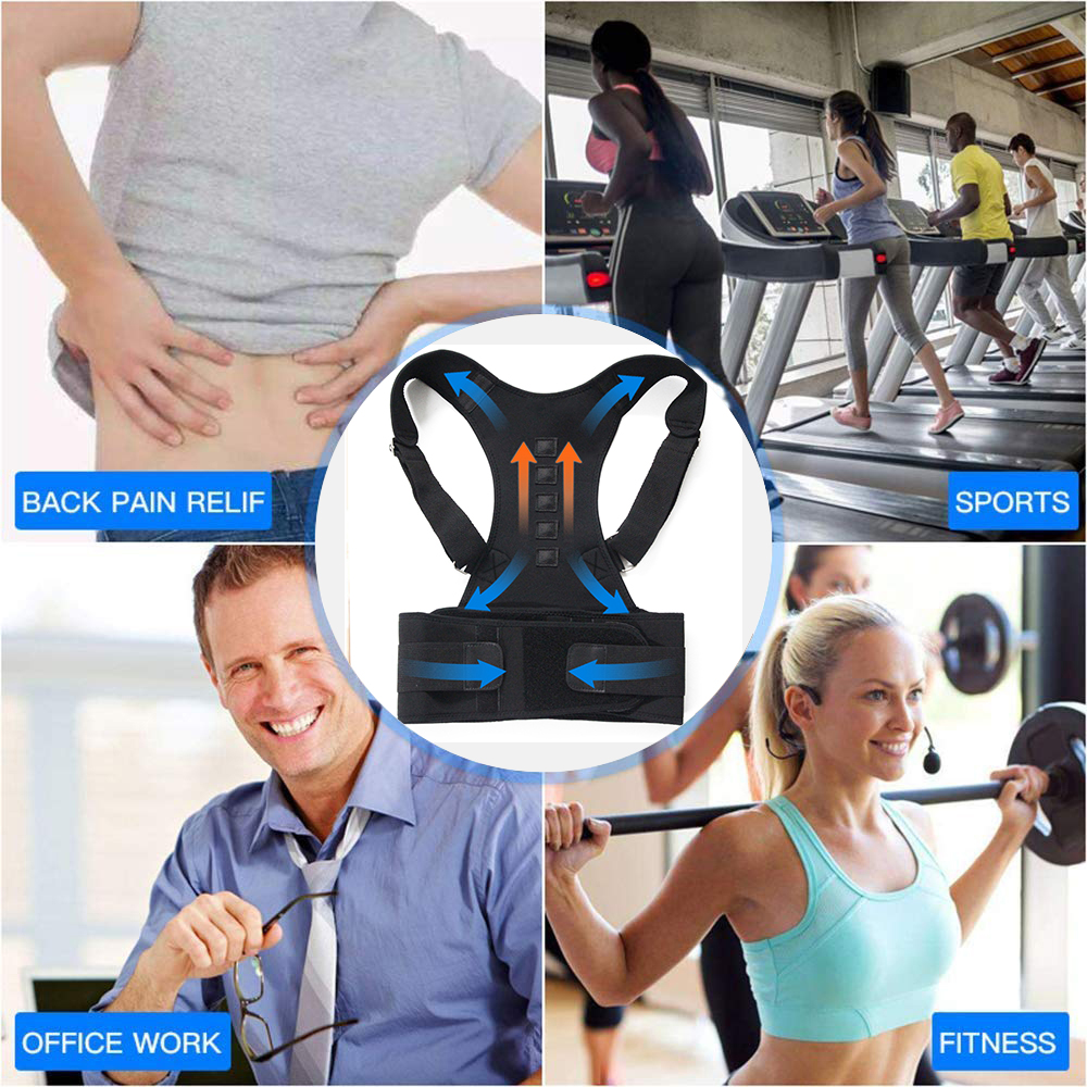 Aptoco Magnetic Therapy Posture Corrector Brace Shoulder Back Support Belt for Braces & Supports Belt Shoulder Posture US Stock 2