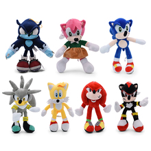 2020 12'' 7 Styles Sonic Plush Doll Toys Hot Sale Various Roles Sonic Cotton Soft Stuffed Game Doll Toys For Kids Christmas Gift