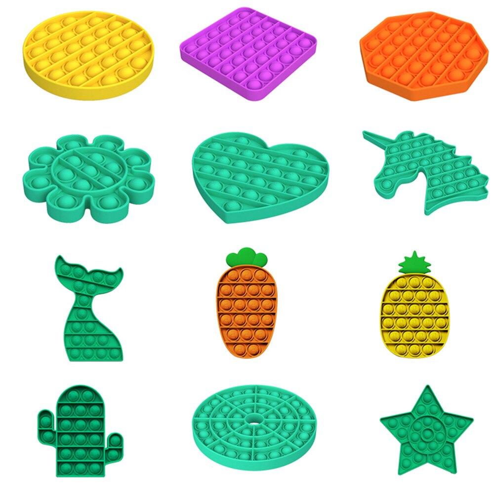 Новые игрушки-антистресс, антистрессовый фиджет с пузырьками, игрушка для взрослых и детей, единорог, динозавр, игрушка-антистресс